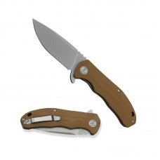 3504 Folding Knife Extended Strong D2 Blade Brown G10 Handle Best Outdoor Camping Hunting Survival Pocket Knives