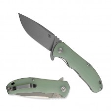 3504 Folding Knife Extended Strong D2 Blade Green G10 Handle Best Outdoor Camping Hunting Survival Pocket Knives