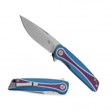 3511 Folding Knife Unique Scale D2 Blade Purple Blue G10 Handle Best Outdoor Camping Hunting Survival Pocket Knives