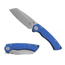 Folding Knife Toucans Edge D2 Blade Blue G10 Handle Best Outdoor Camping Hunting Survival Pocket Knives