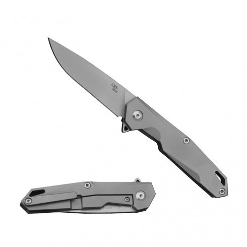 1047s Folding Knife Small Atlantic Metal Aus-8 Blade Grey Titanium Handle Best Outdoor Camping Hunting Survival Pocket Knives