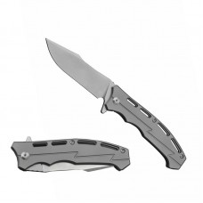 3009 Folding Knife Lightweight Modified Clip Point Carry D2 Blade Grey Titanium Handle Best Outdoor Camping Hunting Survival Pocket Knives