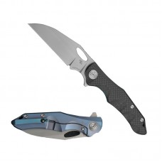 Folding Knife Nighthawk Exclusive S35vn Blade Blue Titanium Handle Best Outdoor Camping Hunting Survival Pocket Knives