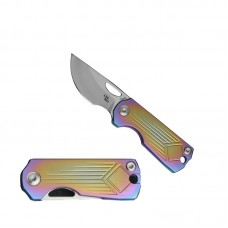 Folding Knife Toad Small Aus-8 Blade Colorful Titanium Handle Best Outdoor Camping Hunting Survival Pocket Knives